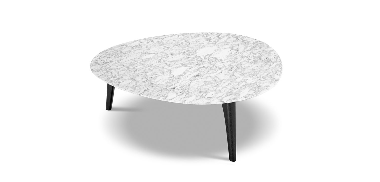 Crescent Marble Table 1050